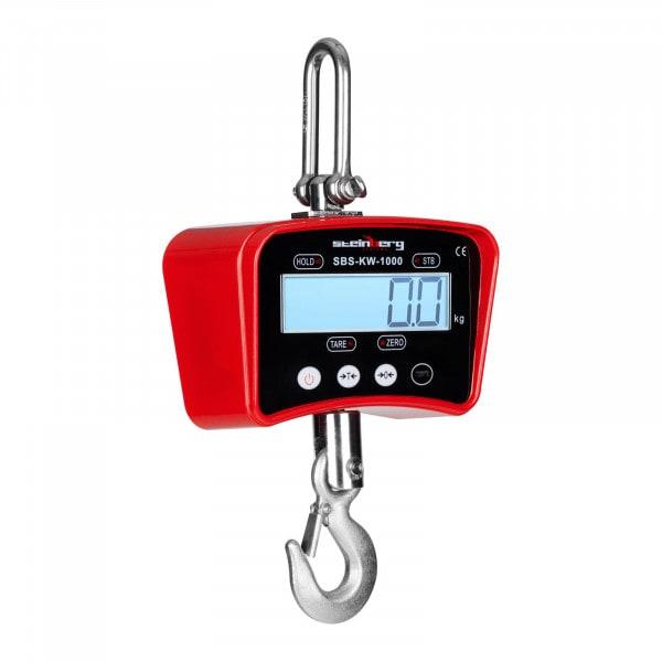 Kraanweegschaal - 1000 kg / 0,5 kg - rood