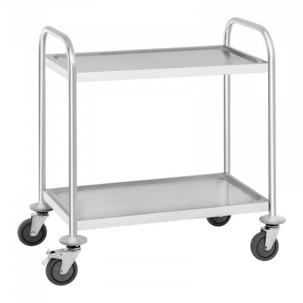Serveerwagen - 2 dienbladen - tot 150 kg