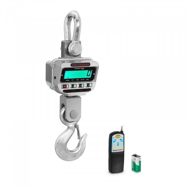 Kraanweegschaal - 10 t / 2 kg - LCD - 150 uur