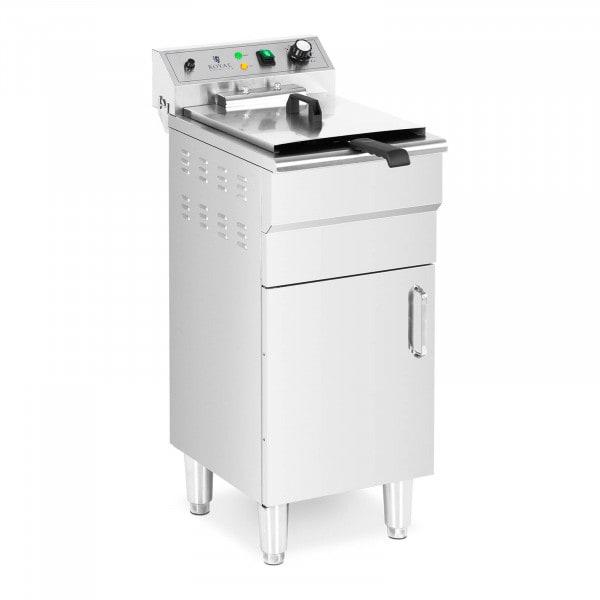 Elektrische friteuse - 13 L - 5.000 W - aftapkraan - koude zone - met kast