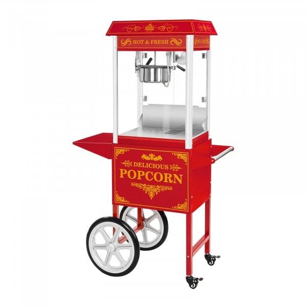 Popcornmachine met onderstel - Amerikaans ontwerp - rood