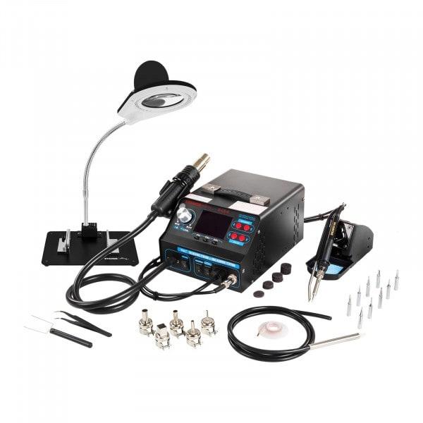 Soldeerstation met tinrolapparaat en soldeerdampafzuiging + Accessoires