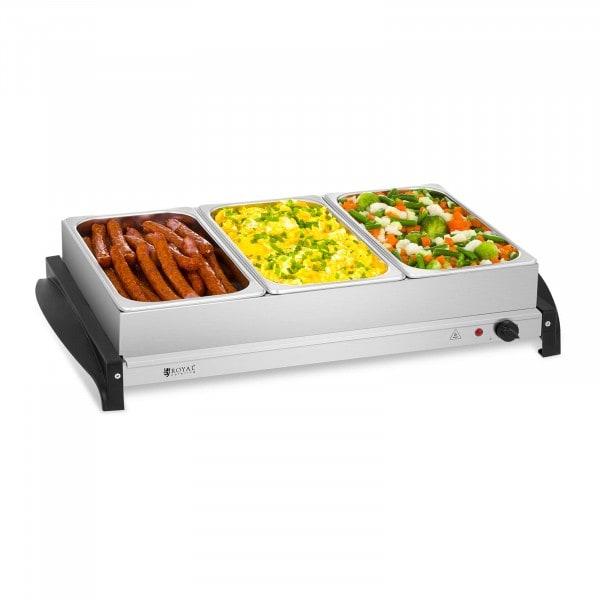 Buffetwarmer - 3 x 2 liter - 400 W