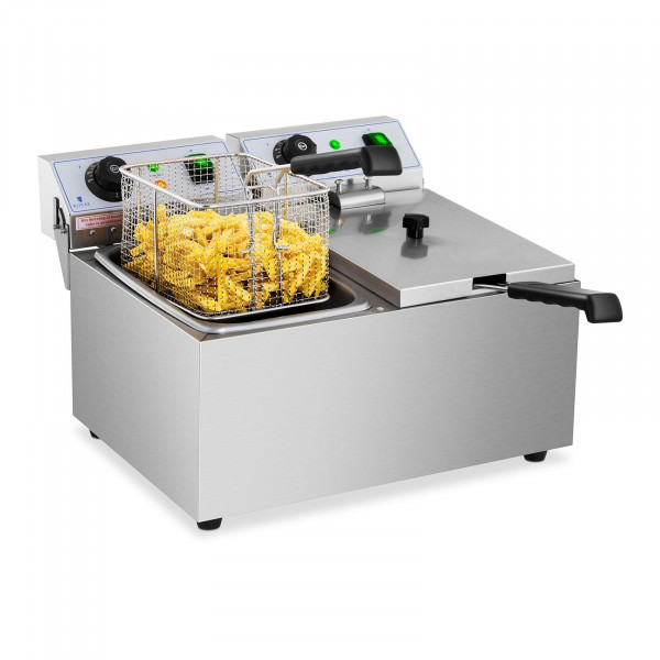 Elektro-Friteuse - 2 x 8 Liter - 230 V