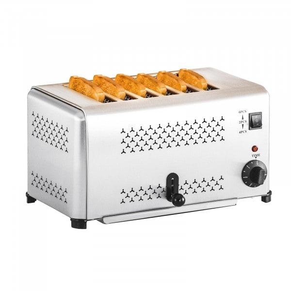 Horeca-toaster met 6 gleuven