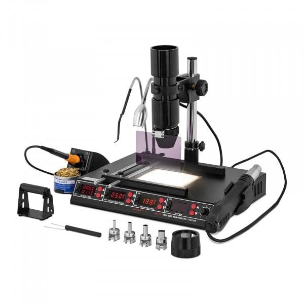 Soldeerstation met voorverwarmplaat en infraroodtramp - 1450 W - 4x LED - basic