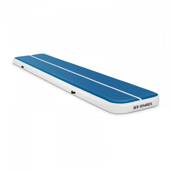 Tweedehands Opblaasbare Gymmat - 500 x 100 x 20 cm - 250 kg - blauw / wit