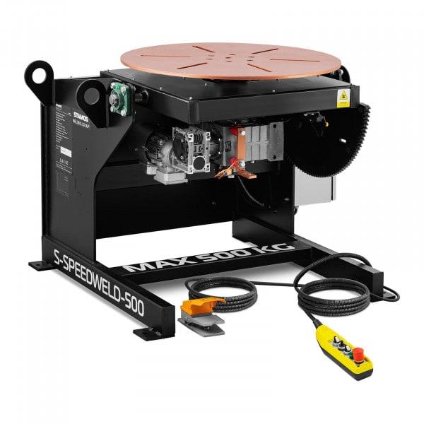 Lassen draaitafel - 500 kg - tafelhelling 0 - 140 ° - voetpedaal