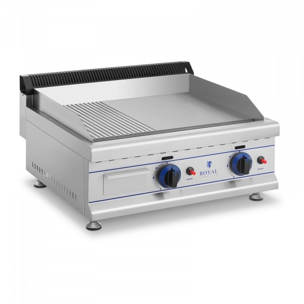 Dubbele elektrische grill - bakplaat - 65 cm - aardgas - 20 mbar
