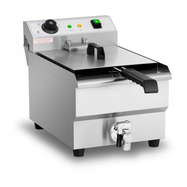 Commerciële friteuse - 13 liter - 3.200 W - aftapkraan - koude zone