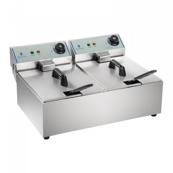 Elektrische friteuse - 2 x 10 liter - ECO