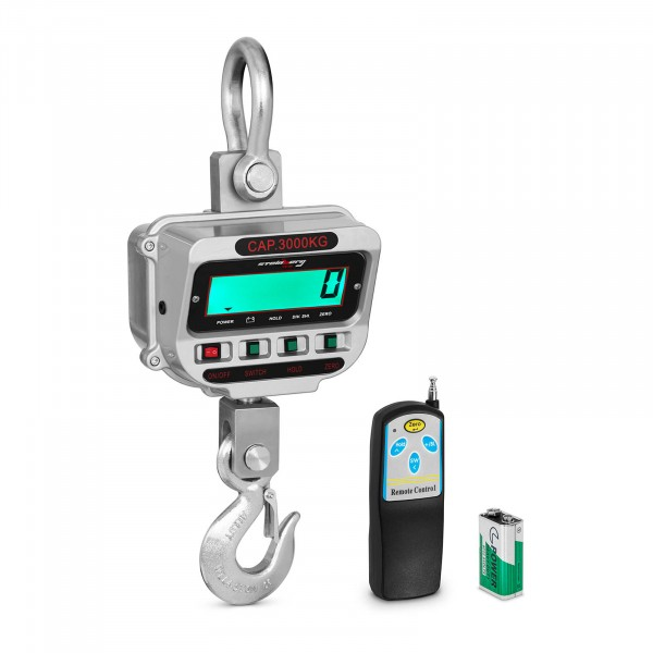 Kraanweegschaal - 3 t / 0,5 kg - LCD