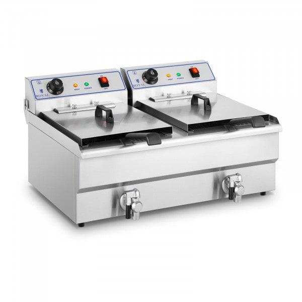 Elektrische friteuse - 2 x 16 L - 400 V