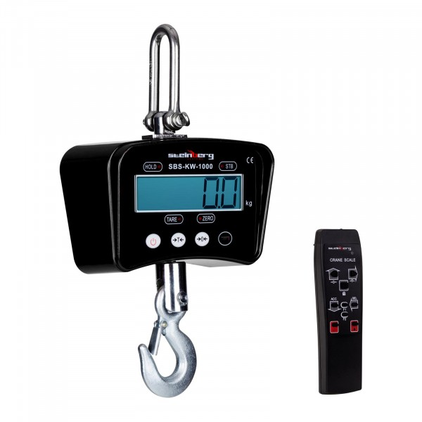 Kranwaage - 1.000 kg / 0,5 kg - schwarz - 3103 - 1