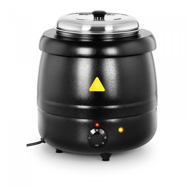 Soepketel - 10 L - staal - zwart gecoat