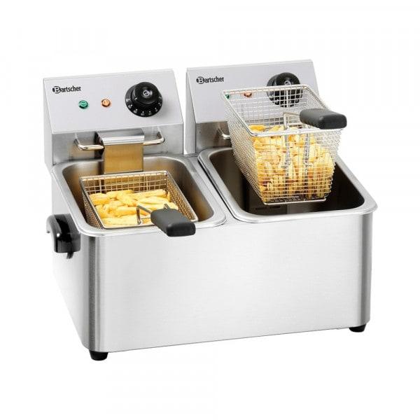 Gesamtansicht von BARTSCHER Elektrofritteuse - 2 x 4 Liter - Snack II