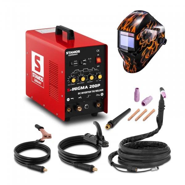 TIG Lasmachine - 200 A - 230 V - Pulserend + Lashelm – Firestarter 500 – ADVANCED SERIES
