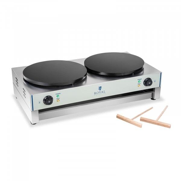 Flensjesmaker - 2 verwarmingsplaten - 40 cm - 3.000 W