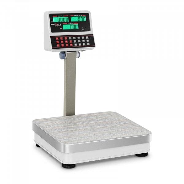 Prijsweegschaal - 100 kg / 10 g - wit - LCD