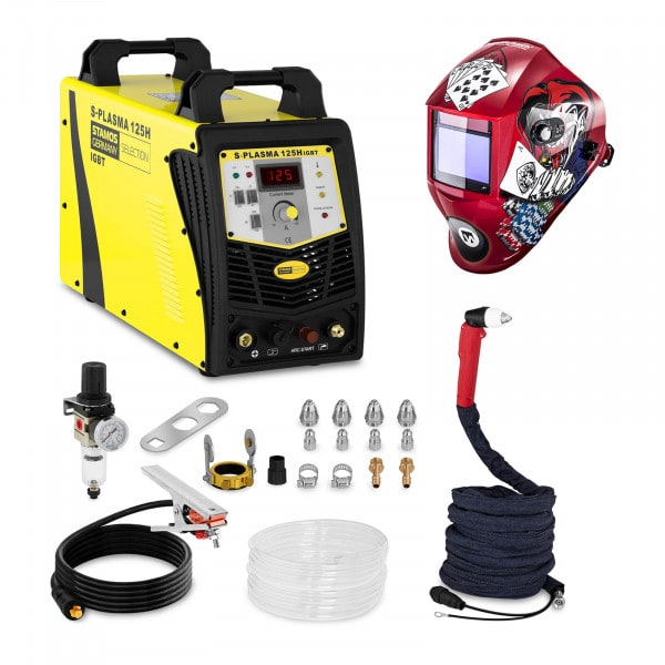 Plasmasnijder - 125 A - 400 V - Pilotontsteking + Lashelm – Pokerface – PROFESSIONAL SERIES