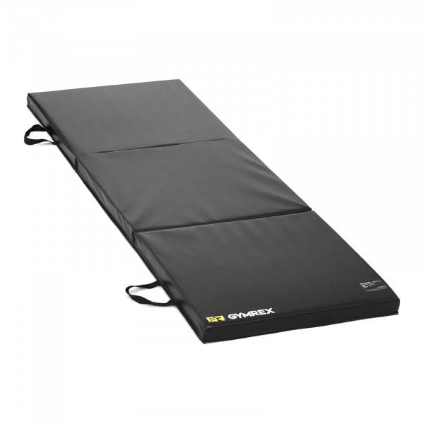 Gymnastiekmat - 180 x 60 x 5 cm - opvouwbaar- zwart
