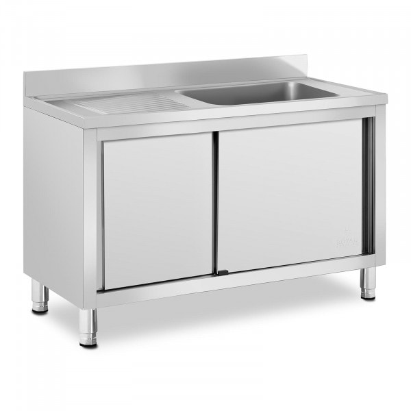 Wastafel kast - 1 Basin - Royal Catering - roestvrij staal - 500 x 400 x 260 mm