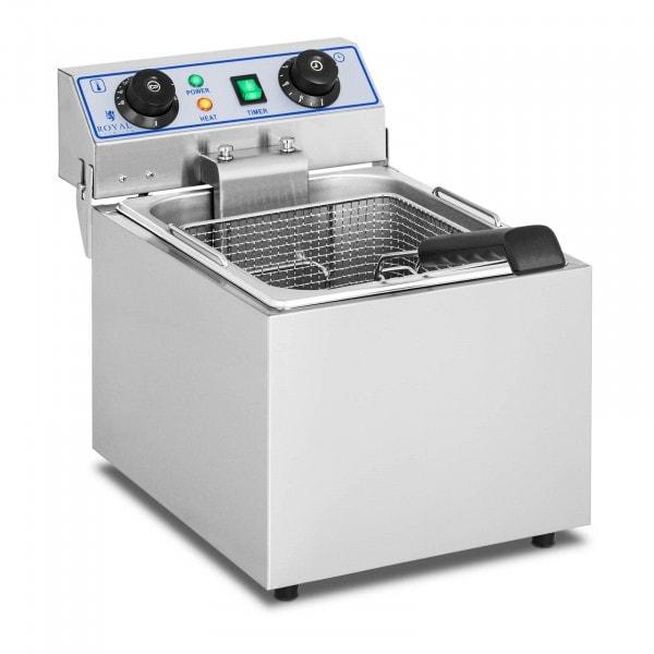 Elektrische friteuse - 1 x 13 liter met timerfunctie (60 minuten)