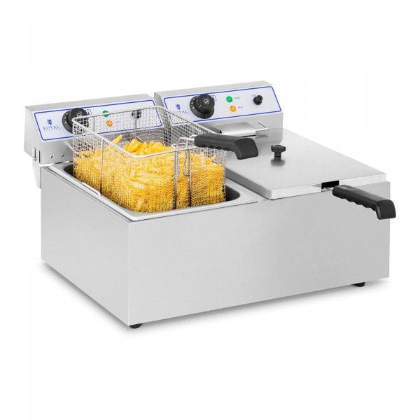 Elektrische friteuse - 2 x 17 Liter - ook geschikt voor vis