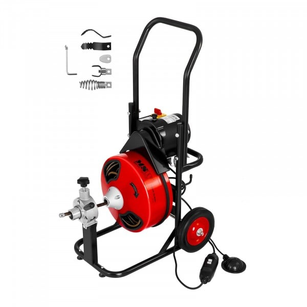 Trommel pijpreinigingsmachine - 390 W - Ø 25 tot 125 mm