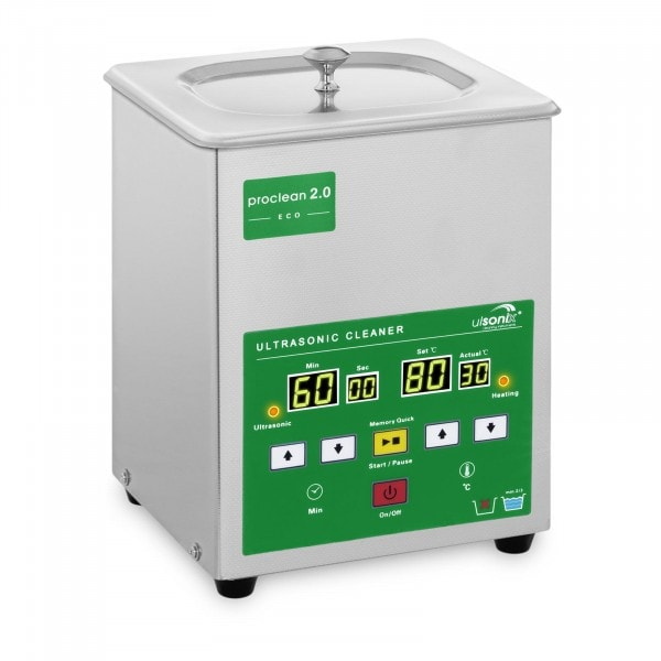 Ultrasoon reiniger - 2 liter - 60 W - Memory Quick Eco
