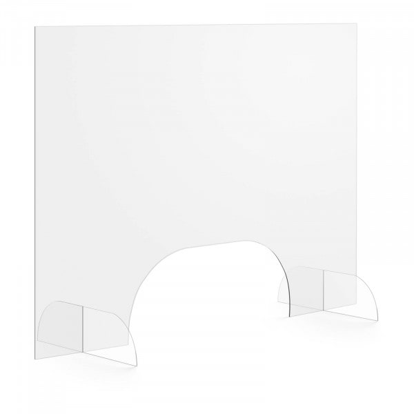 Tweedehands Hoestscherm - 100 x 70 cm - Acrylglas - doorlaat 50 x 20 cm