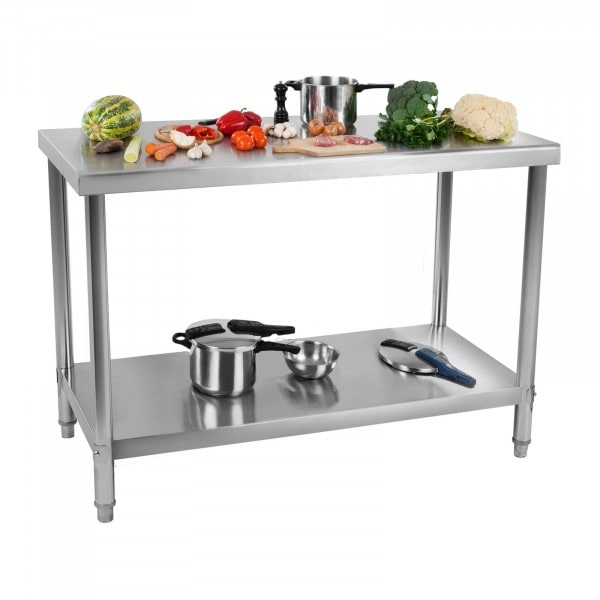 Roestvrij stalen tafel - draagvermogen 120 kg - 100 x 70 cm