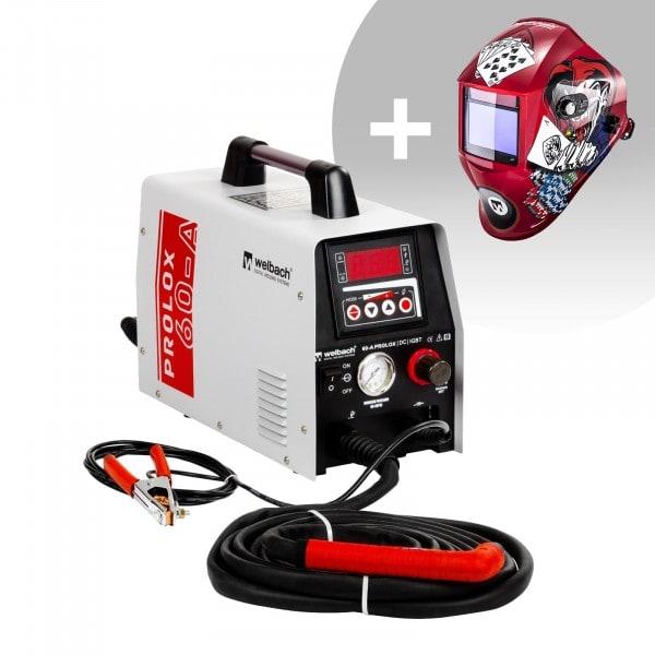 Plasmasnijder - 40 A - 230 V - Digitaal - Pilotontsteking + Lashelm – Pokerface – PROFESSIONAL SERIES