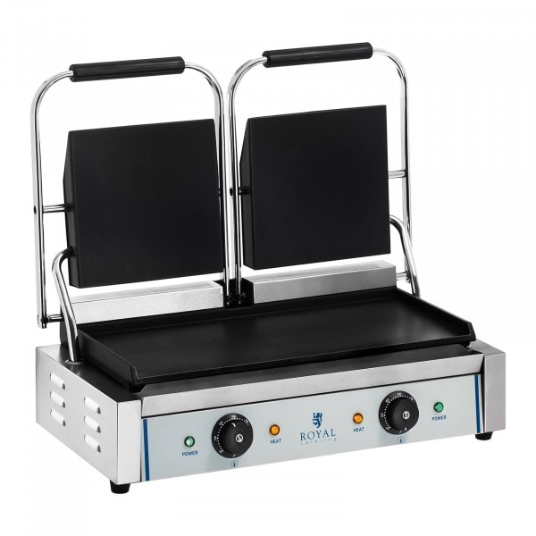 Dubbele contactgrill - glad - 2 x 1.800 W