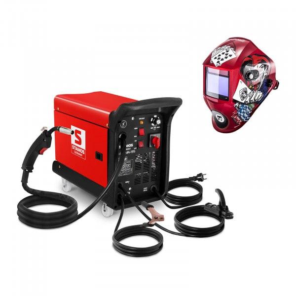 Gecombineerd lasapparaat - 195 A - 230 V - draagbaar + Lashelm – Pokerface – PROFESSIONAL SERIES