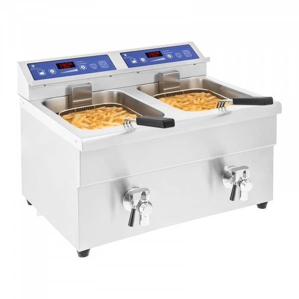 Inductie friteuse - 2x 10 liter - 60 tot 190°C