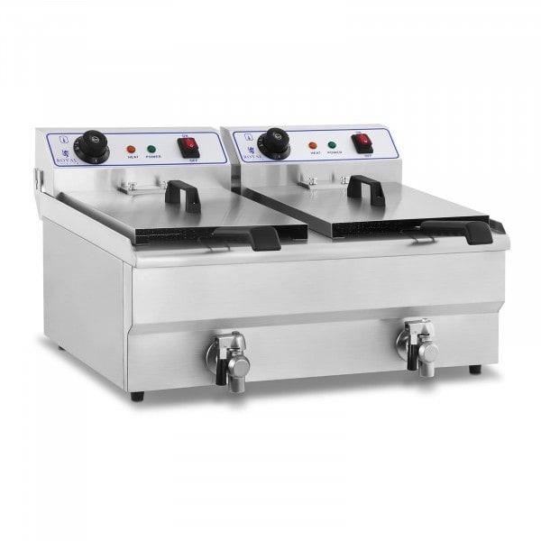 Elektrische friteuse - 2 x 16 liter - 230 V