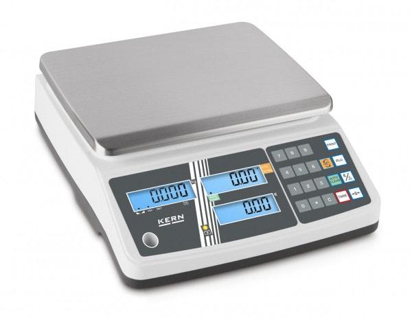 KERN prijsweegschaal - 6 kg / 2 g - wit - LCD