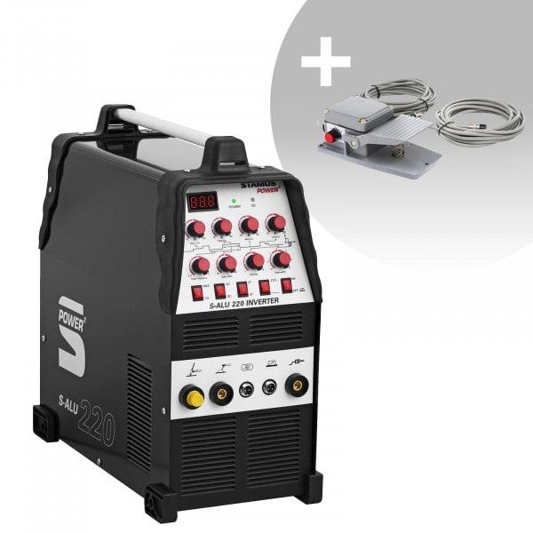 Lasmachine Aluminium - 200 A - 230 V - Pulserend - 2/4 takt + Voetpedaal - S-ALU-220