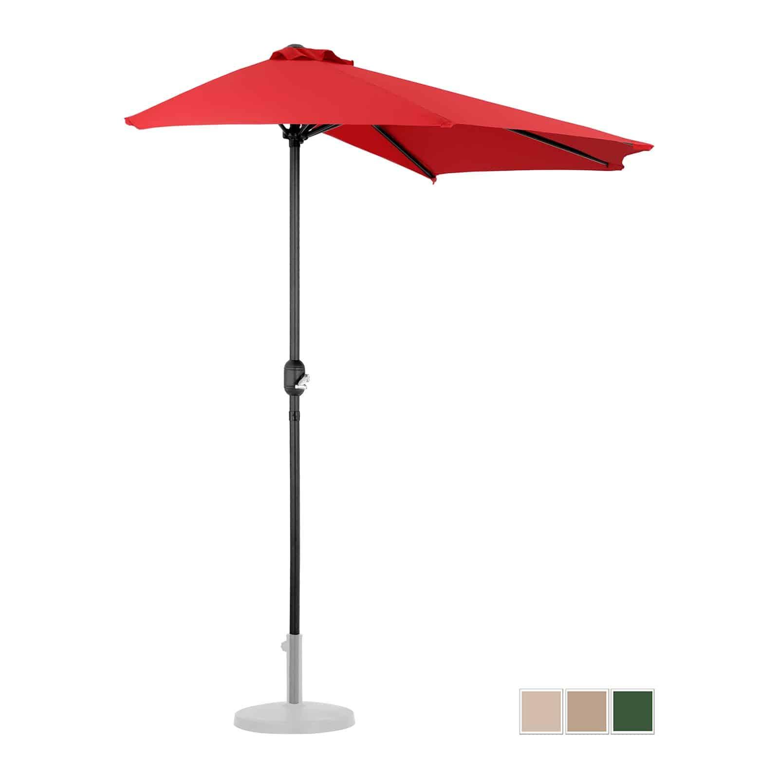 Halve parasols