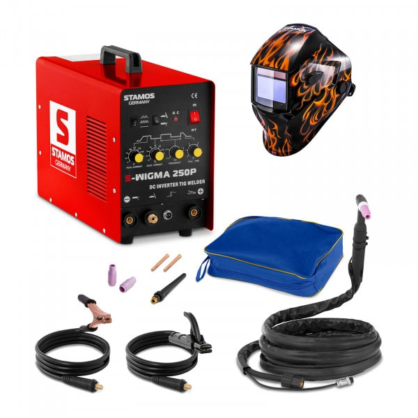 TIG Lasmachine - 250 A - 230 V - Pulserend + Lashelm – Firestarter 500 – ADVANCED SERIES