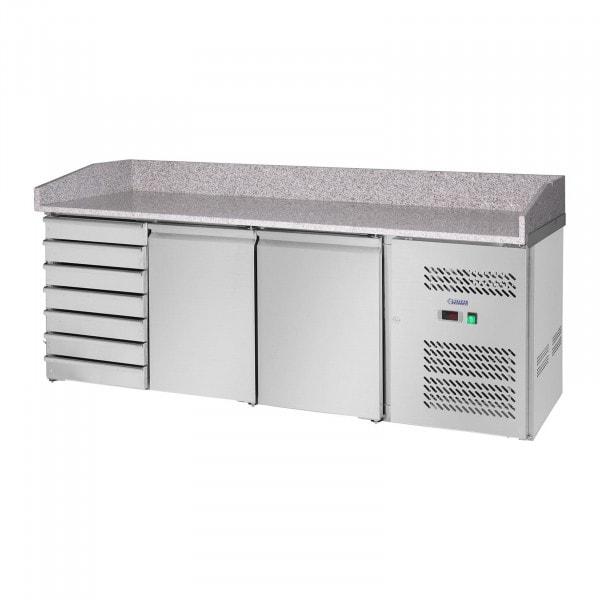Koelwerkbank - 580 l - werkblad van graniet - 2 deuren