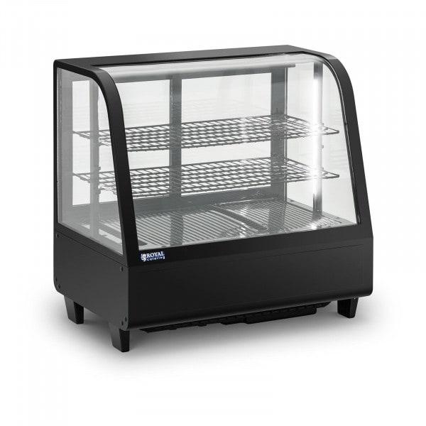 Koelvitrine - 100 L - 3 niveaus - Schuifdeuren - Zwart