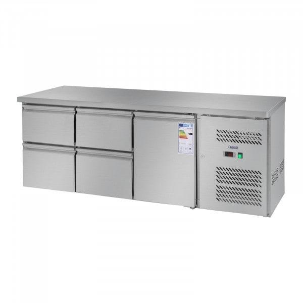 Koelwerkbank - 403 l - 1 deur - 4 schuifladen