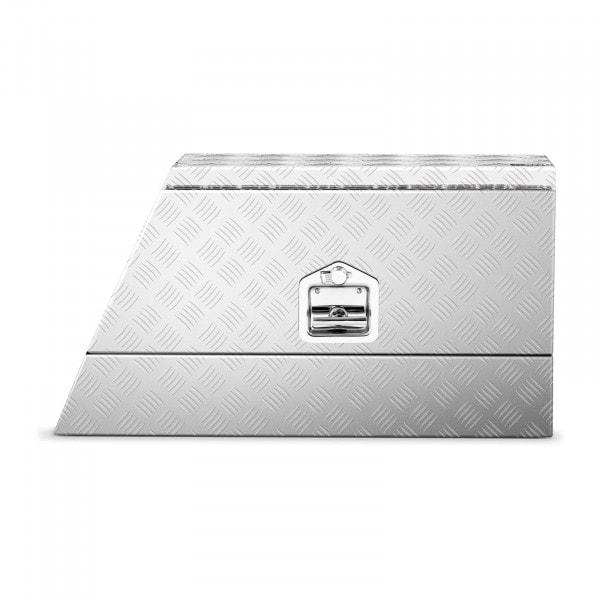 Tweedehands Aluminium gereedschapskist - traanplaat - 75 x 25 x 40 cm - 75 L - afsluitbaar