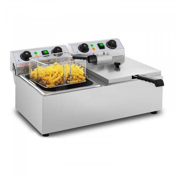 Elektro-Friteuse - 2 x 10 Liter - Timer - 230 V