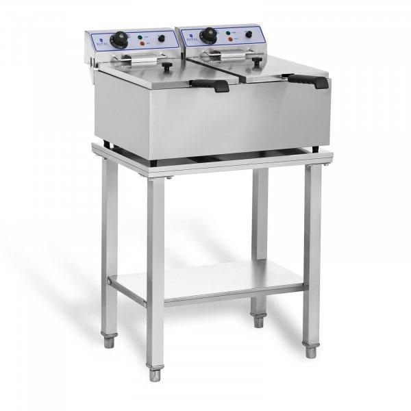 Elektro-friteuse - 2 x 17 L - met onderstel