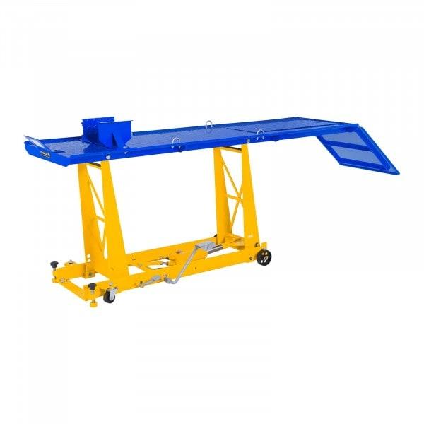 Krikplatform voor motorfiets met ramp - 450 kg - 206 x 55 cm