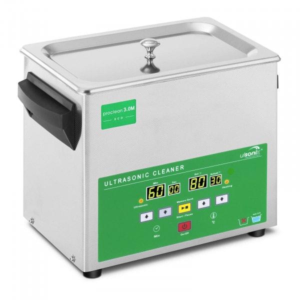 Ultrasoon reiniger - 3 liter - 80 W - Memory Quick Eco