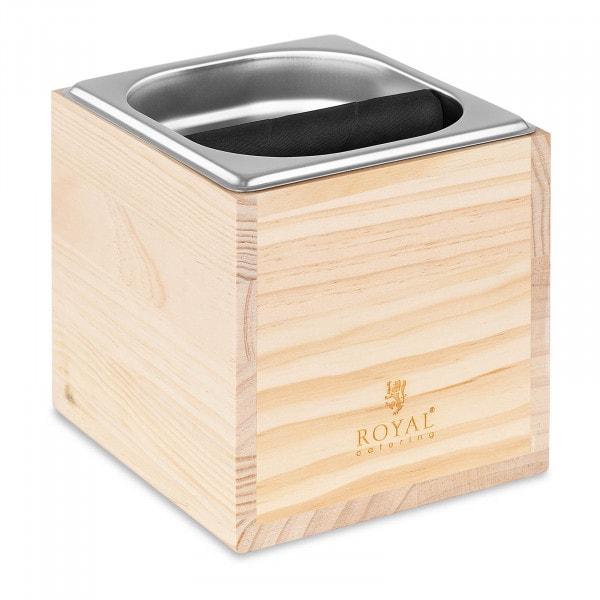 Espresso kraanhouder - GN 1/6 - 2200 ml - met klopstang en houten lambrisering